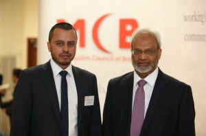 Dr Shuja Shafi (right), elected Secretary General of the Muslim Council of Britain with Harun Rashid Khan (left), elected Deputy Secretary General on 15 June 2015