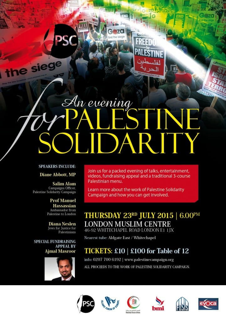 An Evening for Palestine Solidarity